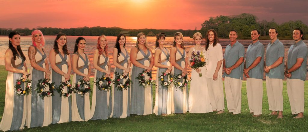 Sunset Wedding at Sunrise Point at Cedar Creek Lake