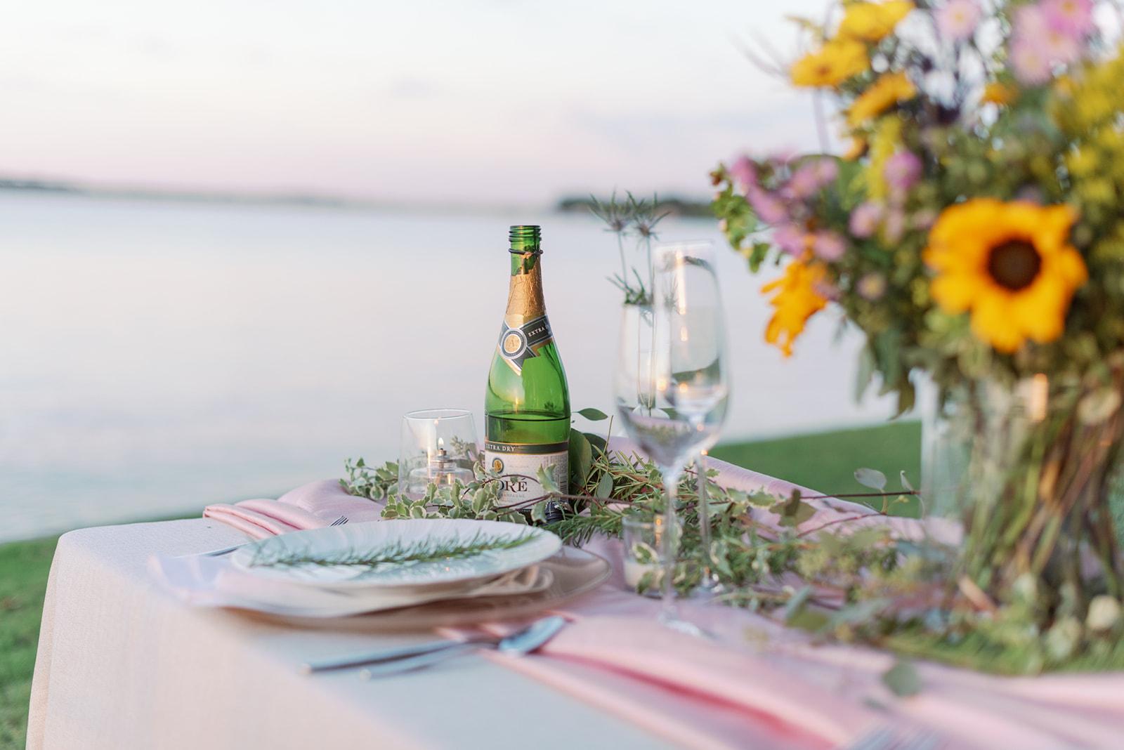 Wedding Meal Lakeside